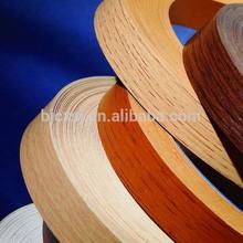 Asian popular selling 2*19MM wood grain kitchen cabinet pvc edge banding