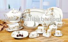 Popular graceful royal porcelain square dinner set