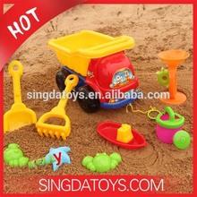 Hot Summer Kids Plastic Beach Truck 8pcs Pack Beach Toy