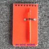 pvc spiral note book wiith pen
