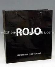 Black Paper Shopping Bag