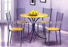 round metal dining room furniture
