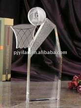 elegant clear sports crystal basketball award