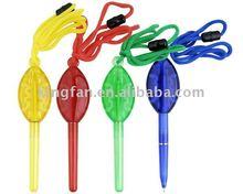lollipop shape ball pen / slim tube inside