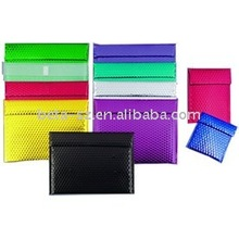 Fashion coloured metal bag protective mailing envelope bags