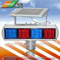 tráfico solar luces intermitentes