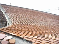 fish scale tile roofing