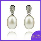 925 silver white drop pearl earring designs ER010