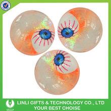 55mm TPU Rubber Glitter Water Eyes LED Flashing Bouncing Ball