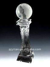 elegant clear crystal globe trophies