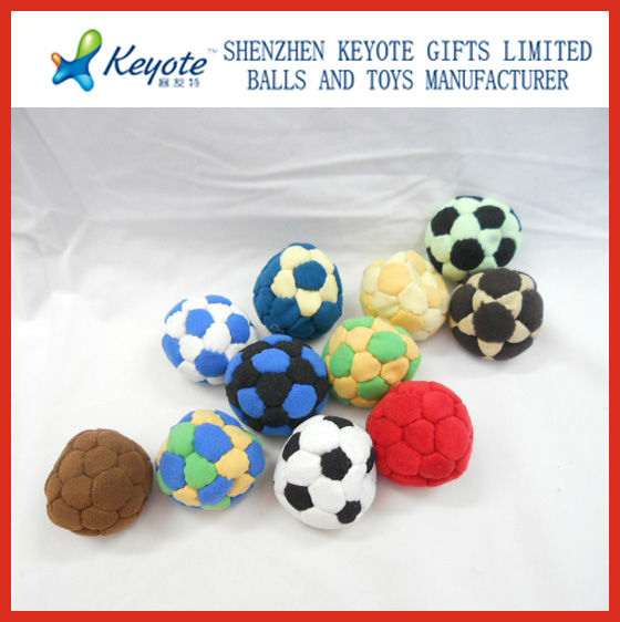 Footbag hacky sack/juggling soccer ball/mini football