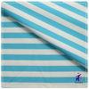 High quality elastic blue white stripes fabric