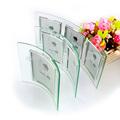 Flexion verticale verre transparent cadre photo