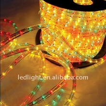 2014 100 meters Flat 4 wires LED color changing rope light christmas outdoor house decoration