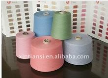 100% recycled polyester colored spun yarn Count Ne12 to Ne60