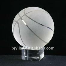 elegant crystal basketball with base