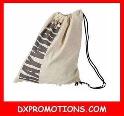 outdoor custom drawstring bag/cotton recycled backpack