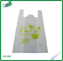 Plastic Biodegradable T-shirt bag with high quality