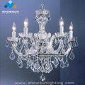 5 de luz de cristal de iluminación para el hogar de araña de cristal con precio de fábrica