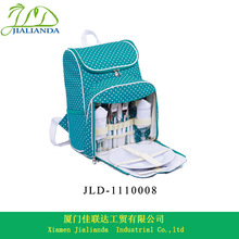 Picnic backpack cooler bag with tableware 2 persons JLD-1110008
