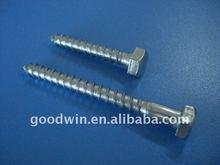 Hex head galvanized wood screw