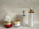 15ml 30ml 50ml Face Cream Transparent Taper Round Shape Cosmetic Pump Lotion Bottles