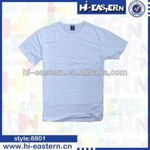 cotton white blank men's t -shirt,o-neck men's T-shirt