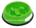 plastic dog slow feed bowl