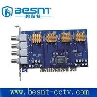 Besnt hot sales H.264 Compression format 4 CH cctv dvr card BS-D04T