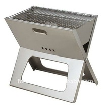 Stainless steel portable charcoal folding bbq grill (FSF218-S)