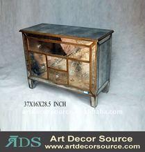 Metal mirrored furniture