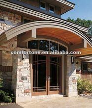 Wood entry door design