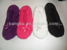 2012 softy foldable micro-fleece dance ballet shoe