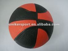 2015 mixed color rubber basketball for promotional size 3