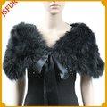 pluma de la moda por la noche negro chales