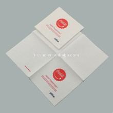 Printed napkin paper