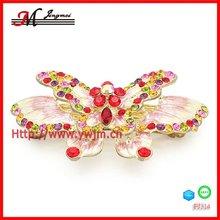 FJ314 fashion gerber daisy flowers hair clips,butterfly hair clip