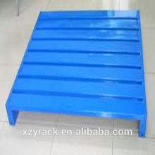 Factory Wholesale Steel Pallet/corrugated or C-style steel/3 legs/2/4 ways/XINZHONGYA RACK