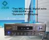 audio amplifier with VFD display remote control, USB SD FM radio