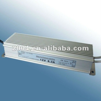 Waterproof LED Power Supply 12V 100W IP67 driver for led lighting with CE,SAA,C-TICK approved