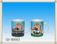 11 oz temperature color change cup of Tibetan girl