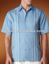 Los hombres de diseñador de moda camisas guayaberas de lino& camisas de algodón shm-56