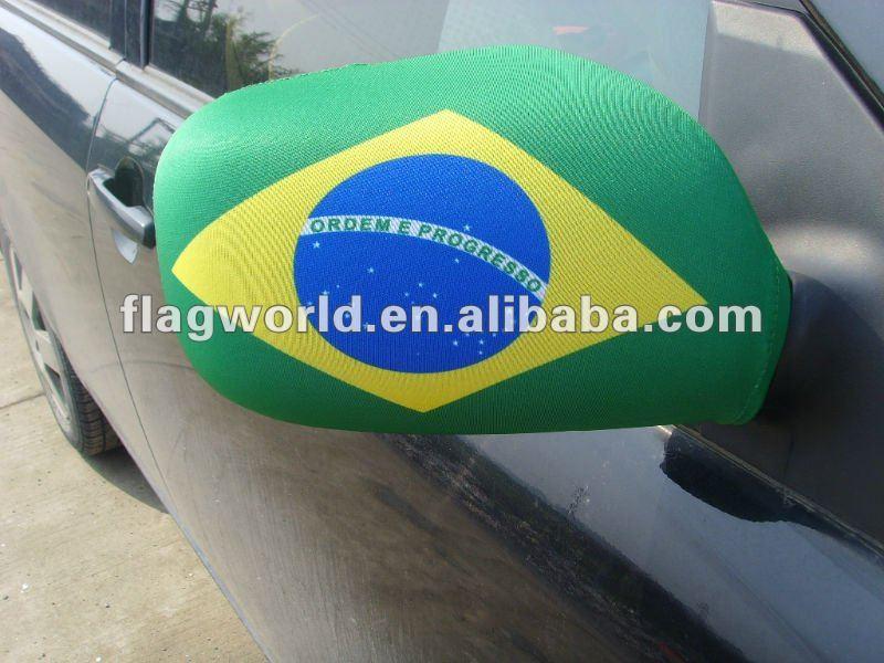 Car Logos With Flags Car Mirror Flag Cover