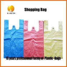 customized PE plastic T-shirt bag for shopping