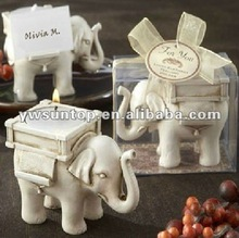 Popular Resin Elephant Tea Light Candle holder as wedding party gifts