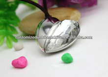hot selling heart crystal metal usb flash drives 1gb