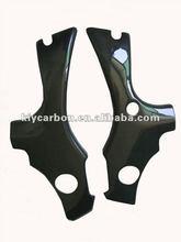 Carbon fiber frame cover for Suzuki motor