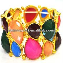 Fashion big bracelet with elastic band