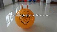pvc sheep-horn handle ball/bouncing ball/hopper balls