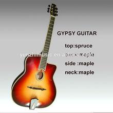 wholesale fully hand made sunburst gypsy guitar
